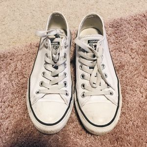 Converse White Classic Low Top Leather Sneakers